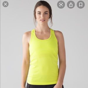 Lululemon Highlighter Yellow Racerback Tank